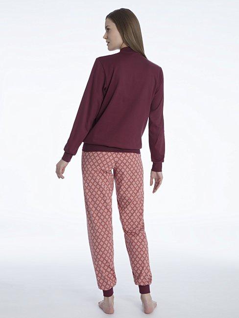 CALIDA Rosanna Bündchen-Pyjama mit Stehkragen