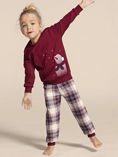 CALIDA Family & Friends Kinder Pyjama mit Bündchen