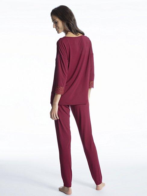 CALIDA Cosy Glam Pyjama lang mit 3/4-Arm