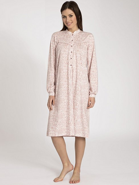 CALIDA Soft Cotton Nightshirt mit hohem Kragen
