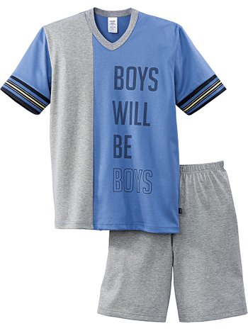 CALIDA Athleisure Boys Jungen-Kurz-Pyjama