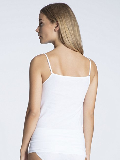 Calida Damen Unterhemd Cotton Finerib