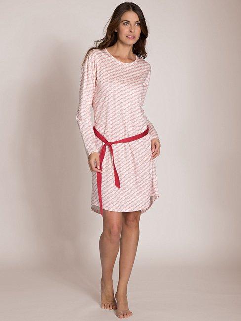 CALIDA Tender Hearts Nachthemd mit Taillengürtel in Geschenkbox, Länge 95cm