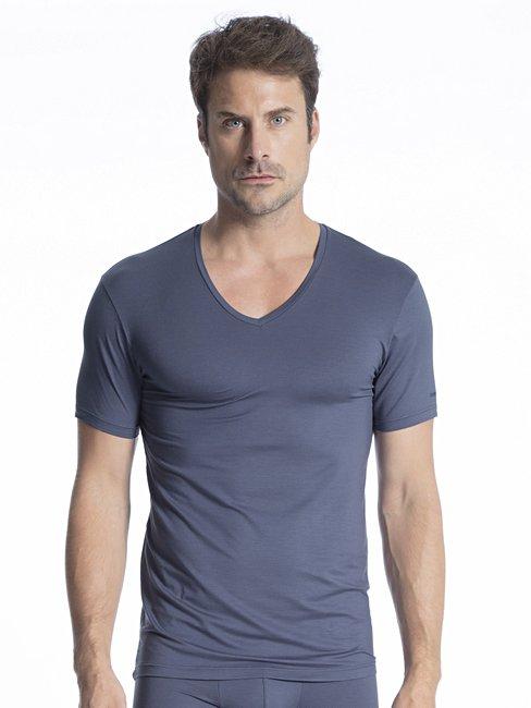 CALIDA Natural Micro V-Shirt mit Frackschnitt