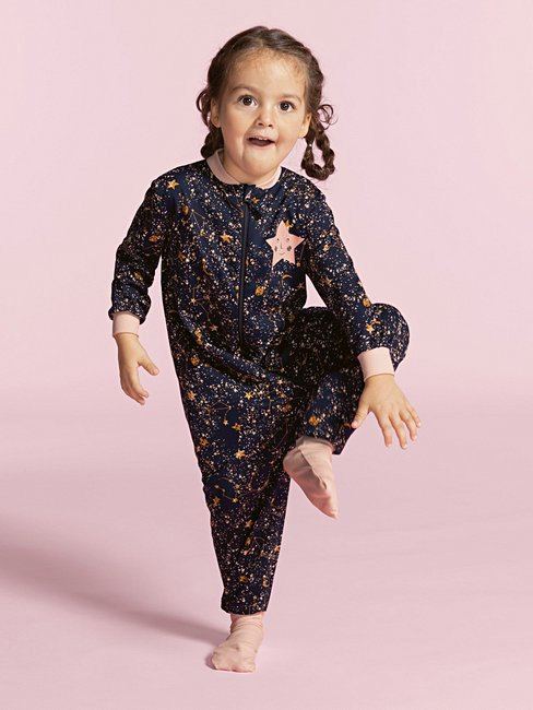 CALIDA Toddlers Stars Jumpsuit with zipper
