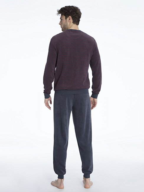 CALIDA Troy Bündchen-Pyjama aus Frottee