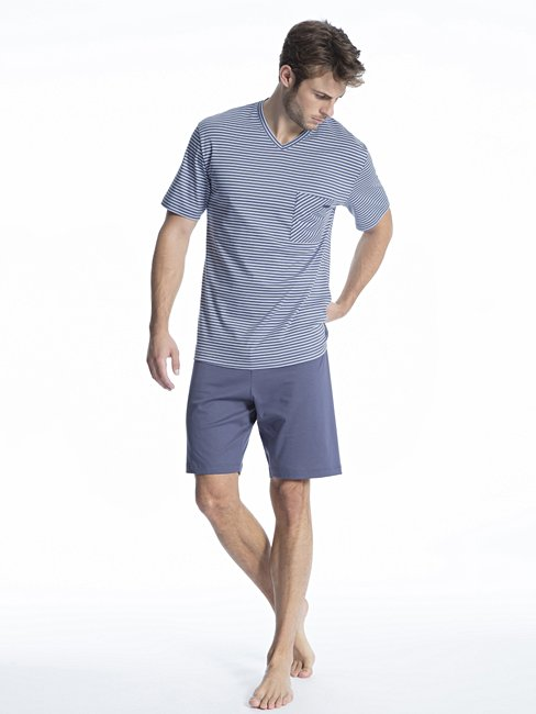 CALIDA Relax Streamline 1 Kurz-Pyjama mit V-Ausschnitt