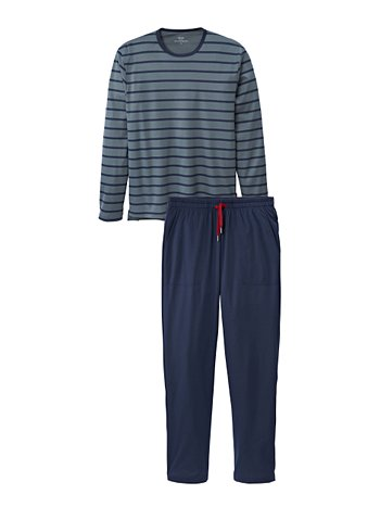 CALIDA Joris Ringel-Pyjama mit Seitentaschen