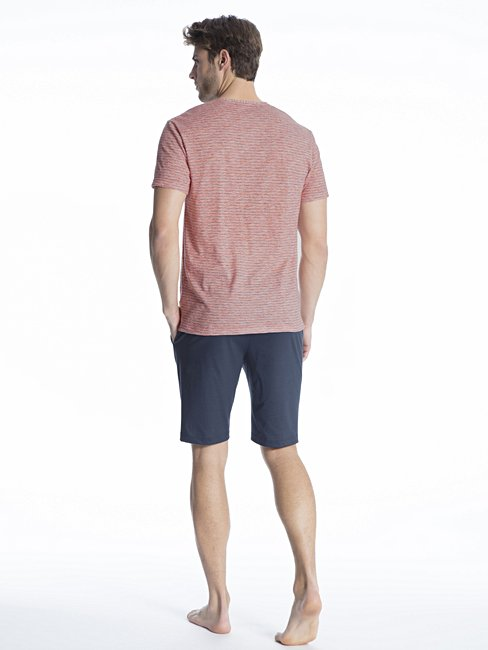 CALIDA Casual Easy 2 Kurz-Pyjama V-Ausschnitt
