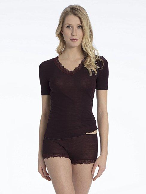CALIDA Rosa Shirt, kurzarm aus Schurwolle