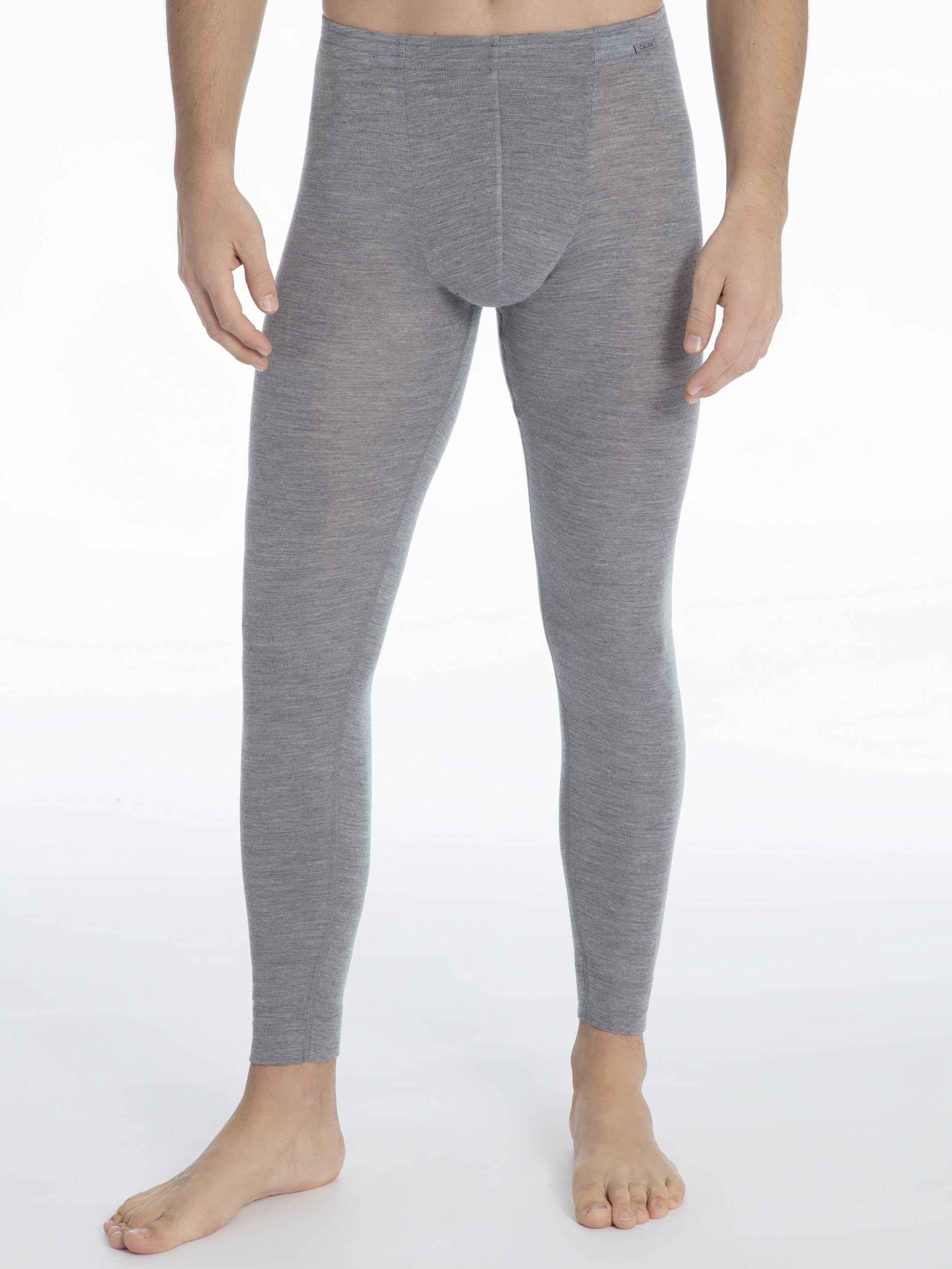 Herren CALIDA Wool & Silk Longpants aus Wolle und Seide grau   07613306426691