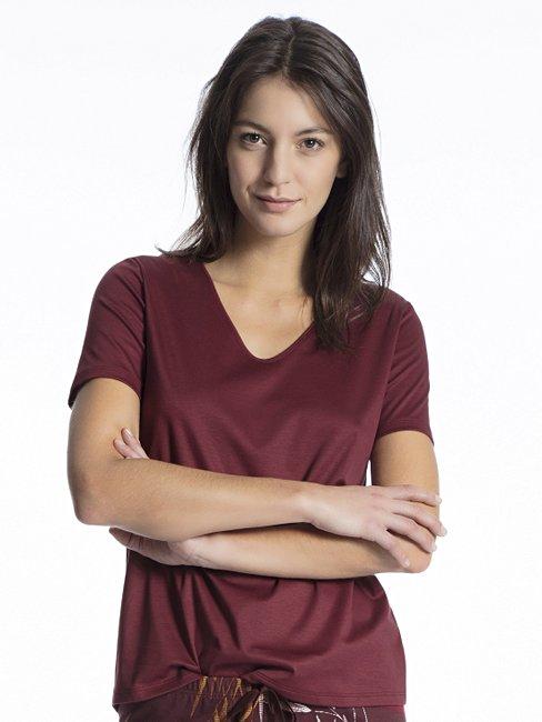 CALIDA Favourites Trend 2 Kurzarm-Shirt, V-Neck