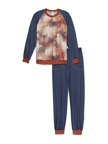 CALIDA Boys Tropic Jungen Schlafanzug mit Bündchen