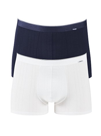 CALIDA Pure & Striped New Boxer im Doppelpack Blau-Weiss