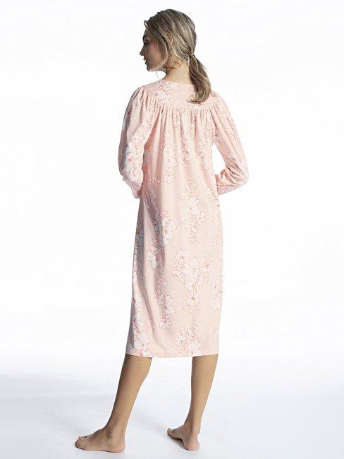 CALIDA Soft Cotton Langarm-Nightshirt, Länge 110cm