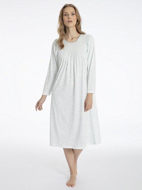 CALIDA Soft Cotton Klassisches Langarm-Nachtkleid