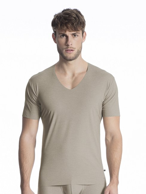 CALIDA Fresh Cotton V-Shirt mit Clean-Cut