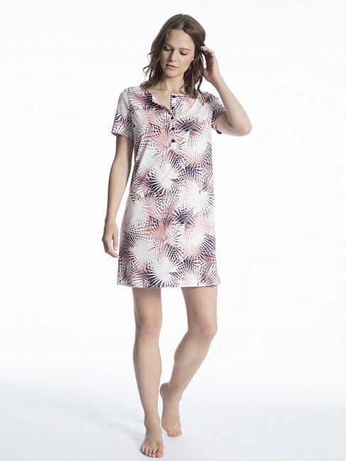 CALIDA Cosy Flowers Sleepshirt, lungezza 90cm