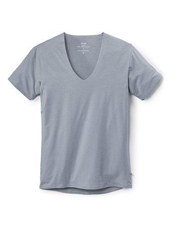 CALIDA Fresh Cotton T-Shirt mit Frackschnitt, clean cut