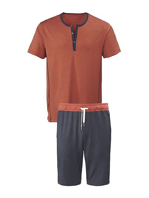 CALIDA Function Joy Kurz-Pyjama mit Knopfleiste