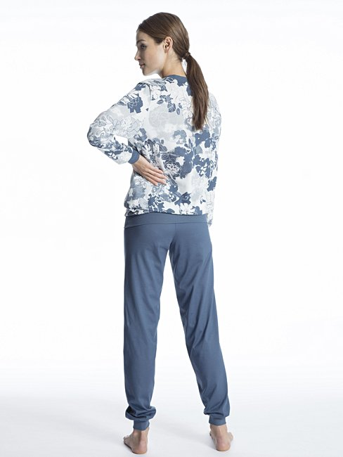 CALIDA Soft Jersey Fun Bündchen-Pyjama