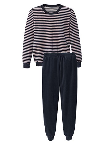 CALIDA Cosy Terry Frottee Bündchen-Pyjama