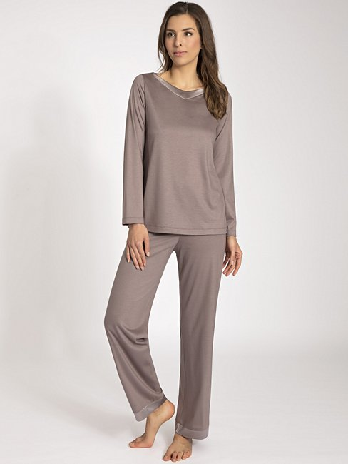 CALIDA Charlize Pyjama lang mit Seidendetail
