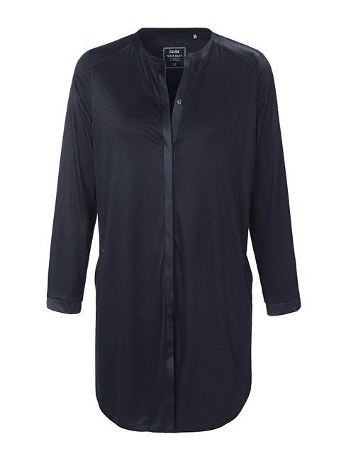 CALIDA Liz Sleepshirt mit Knopfleiste und Seiden-Einsatz, Länge 90cm