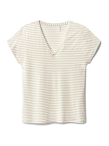 CALIDA Favourites Trend 1 Kurzarm-Shirt, V-Neck