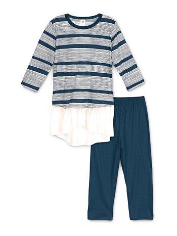 CALIDA Girls Stripes Pyjama 3/4