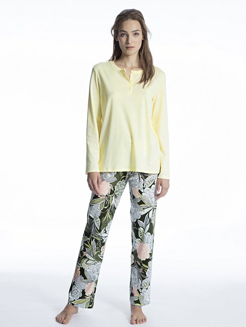 CALIDA Cosy Cotton Fair Pyjama with button tab