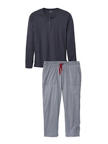 CALIDA Kolia Pyjama mit Knopfleiste