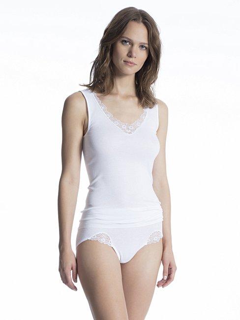 CALIDA Cotton Finerib Midi Slip, high waist