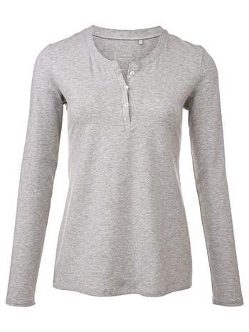 CALIDA Favourites Trend 2 Langarm-Shirt mit Knopfleiste