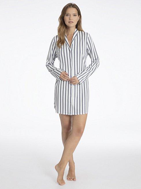 CALIDA Madeleine Sleepshirt durchgeknöpft, Länge 85cm