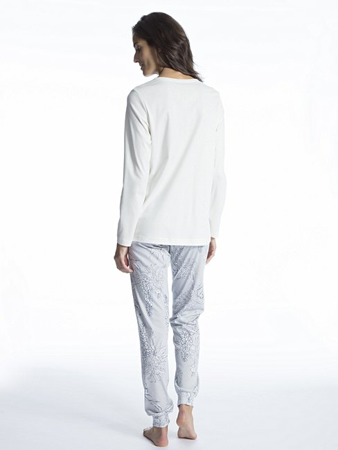 CALIDA Cosy Cotton Style Pyjama with cuff