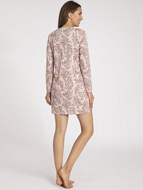 CALIDA Gwyneth Sleepshirt mit Knopfleiste, Länge 90cm