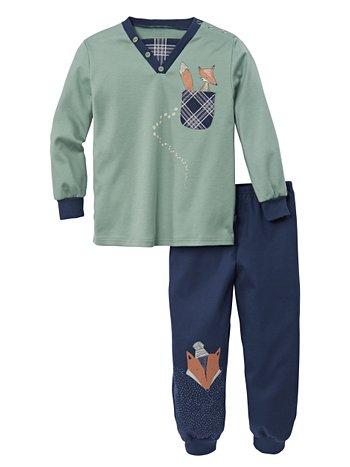 CALIDA Smart Fox Kinder-Schlafanzug mit Bündchen
