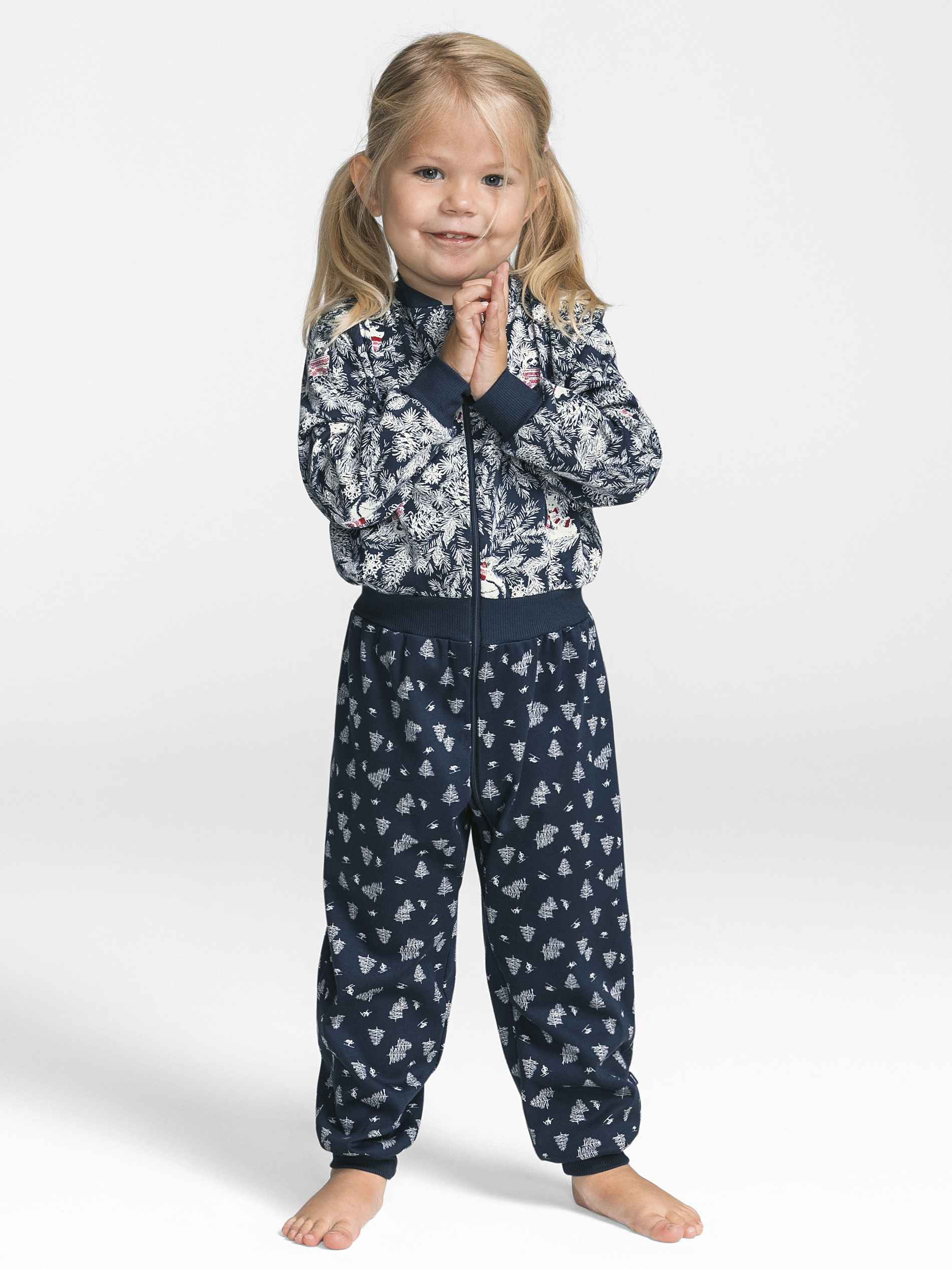 Kinder CALIDA Family Time Kinder-Jumpsuit mit Bündchen blau | 07613381057193
