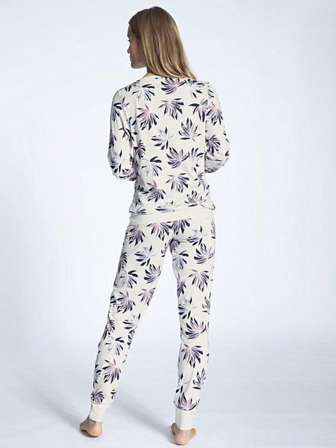 CALIDA Cosy Flowers Pyjama avec bords élastiqués