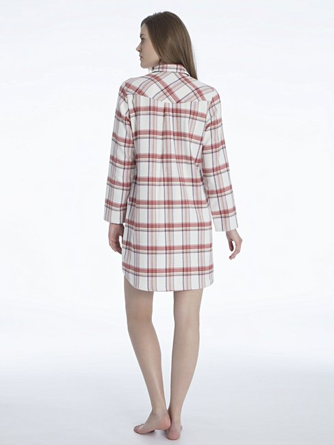 CALIDA Rubina Flanell-Sleepshirt, geknöpft Länge 90cm