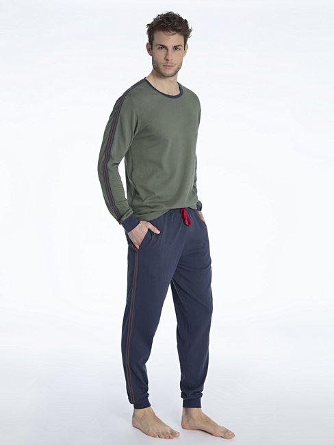 CALIDA Sami Bündchen-Pyjama mit Seitentaschen