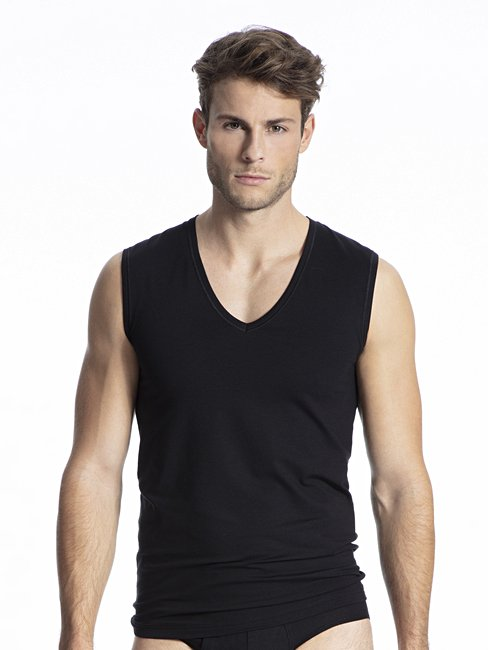 CALIDA Cotton Code City-Shirt, V-Neck