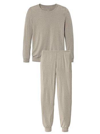 CALIDA Cosy Wool Bündchen-Pyjama mit Wolle