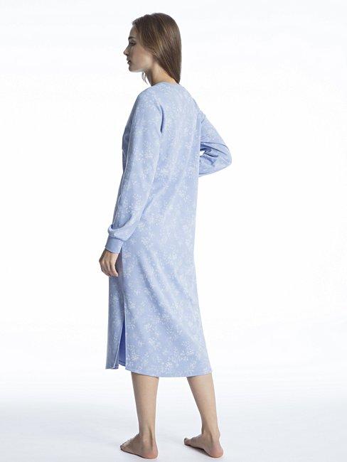 CALIDA Rahel Camicia da notte con abbottonatura, lunghezza 120cm
