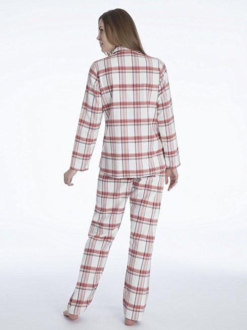 CALIDA Rubina Flanell-Pyjama, geknöpft