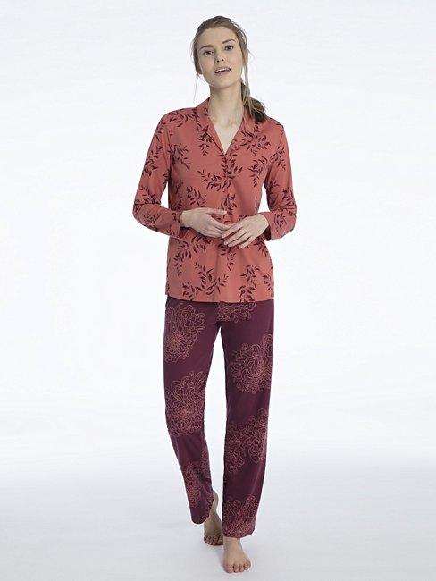 d897057f1c CALIDA Jaelle Schlafanzug mit Knopfleiste rot | CALIDA Online-Shop