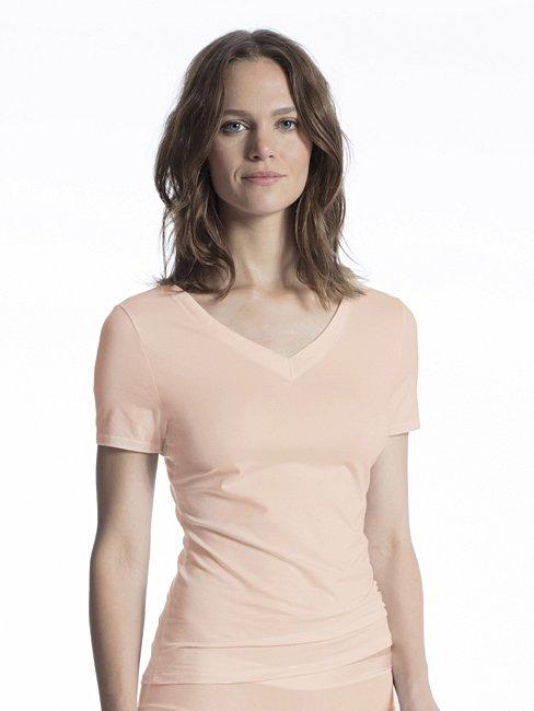 CALIDA Cate Shirt Kurzarm mit V-Ausschnitt