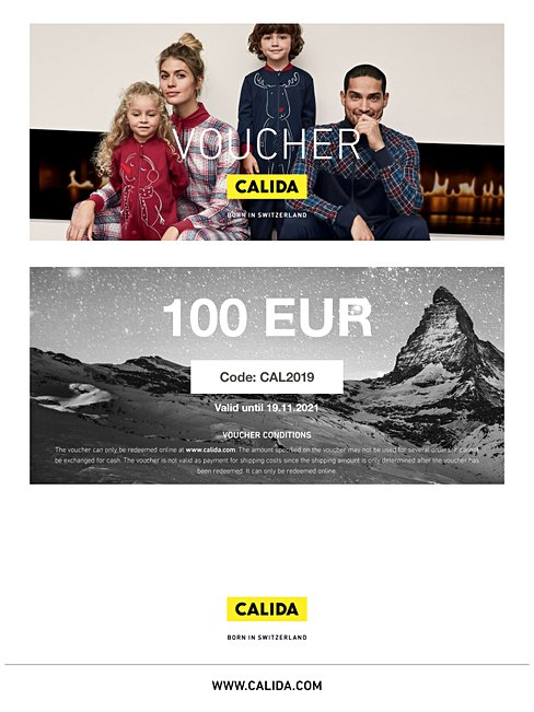 CALIDA  Downloadable gift voucher