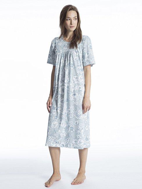 CALIDA Soft Cotton Nachtkleid kurzarm, Länge 110cm